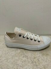 Converse All Star ox Canvas Mens Trainers Shoes White Beige Mono Size 7.5 UK
