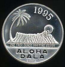 Royal Hawaiian Mint 1995 Aloha Dala 1 Troy Oz .999 Fine Proof Silver Round