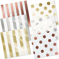 16 Paper Party Napkins Serviettes Wedding Party Tableware Gold/Silver/Rose Gold