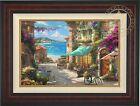 Thomas Kinkade Studios Italian Cafe 12 x 18 Limited Edition G/P Framed Canvas