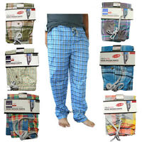 MENS WOVEN LONG TROUSER LOUNGE WEAR PANTS PYJAMA BOTTOMS PJ'S PYJAMAS NIGHTWEAR