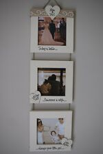 Personalised Photo Frame by Filly Folly! Wedding Gift! Triple 4x4''