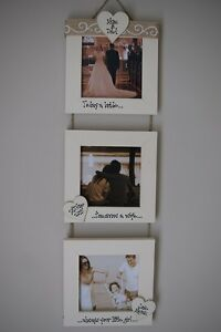Personalised Photo! Parents of the Bride Groom Wedding Gift! Triple 4x4''!