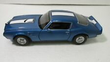 Welly 1972 Pontiac Firebird Trans Am Bleu Sport Voiture 1:24 Échelle Miniature