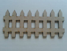 A301 Pack of 6 Wooden Fairy Picket Fence Fairy Door Accessory