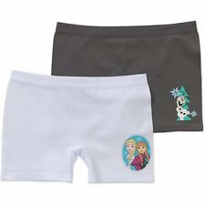 Disney Frozen Girls Seamless Play Shorts 2 Pack Size LARGE 10-12 NEW