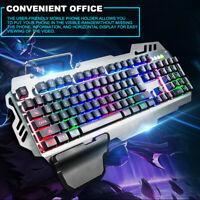 USB Detachable Backlight Mechanical Gaming PC Keyboard Keypads Backlight AU