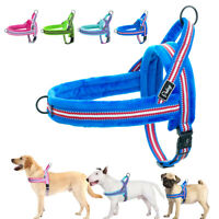 Front Leading Pet Dog Harness No Pull Reflective Fleece Vest for Small Large Dog
