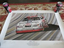 Garry Hill Print Signed by Kevin Harvick 3 for 3 Earnhardt Tribute