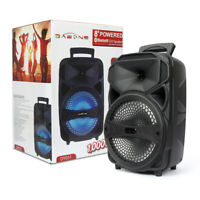 BT Party Speaker System Wireless Big Led Portable Stereo Tailgate Loud FM TF