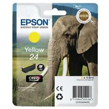 Original Epson 24 Elephant Yellow Ink Cartridge, C13T24244010 XP750 XP850 XP950