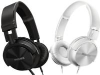 Philips DJ SHL3000 Extra Bass Wired Headphones Black On Ear Stereo Headband