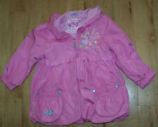 Girls Pampolina Pink Lightweight Hooded Coat Size 98. Age 4-5.