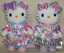 """Hello Kitty & Mimmy Parade Parallel Plush Dolls 7.8"""" 20cm Sanrio 2015 NWT"""