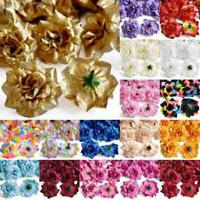 50pcs Artificial Silk Rose Flower Heads Bridal Wedding Décor DIY 5x3cm YCHS1B