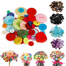 Wholesale lots 4Holes Mixed Color Round Resin Buttons Fit Sewing&Scrapbook
