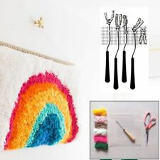 Diy Blank Rug Hooking Mesh Canvas Latch Hook Rug Making Carpet Kit 100x150cm