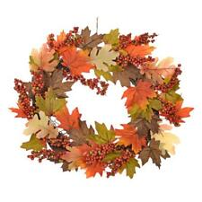 ArtIFicial LARGE Autumn/Thanksgiving - Berries, Oak & Maple Leaf Wreath 46cm