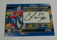 CURTIS LAZAR - 2013/14 ITG HEROES & PROSPECTS - ROOKIE AUTOGRAPH -