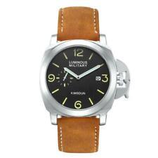 Men's Luminor Marina Homage Watch Leather Band Automatic Mechanical Luminous GMT