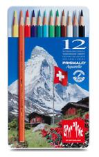 Caran d'Ache Prismalo Crayon de couleur 12 Boite Ensemble aquarelle Artiste