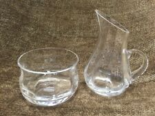 Wedgwood Crystal Glass Cream & Sugar Set Devon Collection With Tags