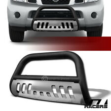 For 2008-2012 Pathfinder Bull Bar Push Bumper Grill Guard Skid Plate Matte Black