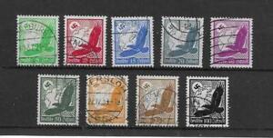 (6) Germany 1924 Airs FU set SG526-34 cat £25