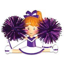 Personalized Christmas Ornament Purple Cheerleader Sports Megaphone- Team Gift