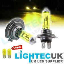2x H7 100W XENON YELLOW HALOGEN HID 499 HEADLIGHT LAMPS LIGHT CAR BULBS 12V UK