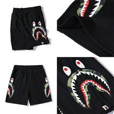 Shark Bape Head Men Seaside Loose Short Pants A Bathing Ape Casual Sports