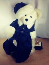 """Boyd's Bears Bearwear Polar Bear In Royal Blue Coat And Hat Christmas 13"""""""