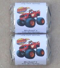 30 BLAZE AND THE MONSTER MACHINES BIRTHDAY PARTY PERSONALIZED NUGGET LABELS