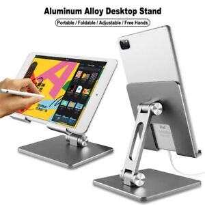 Metal Foldable Tablet Phone Holder Desk Stand For iPad Pro 12.9 11 10.9 Samsung
