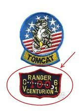 TOP GUN PILOT'S TOMCAT FLIGHT SUIT R SHOULDER RANGER CENTURION PATCH - VELCRO
