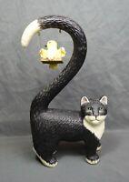 Rare Tyber Katz United Design Cat Figure Black and White Tail Bird Swing