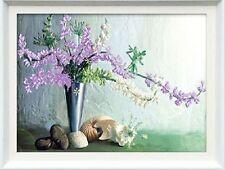 Stickbild Blumenvase Stickpackung 48,4x40,9 cm Zählmuster Cross Stitch 3D-Effekt