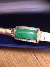 Vitage Wrist Bracelet Natural Jadeite  , Around 1930', Natural Grade A, Green