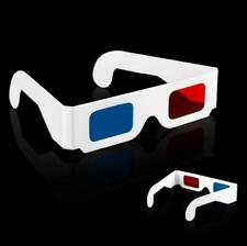 10 x 3D Glasses Red / Blue Cyan Paper Card 3D Anaglyph Glasses