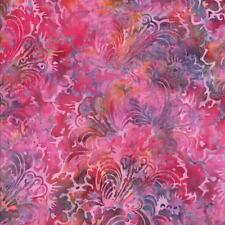Hoffman Batik Bali Chop Filagree Plumes K2482-153 Tea Rose Cotton Batik Fab BTY