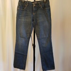 American Eagle 2 distressed 77 Straight leg jean Cotton relaxed fit low rise AEO