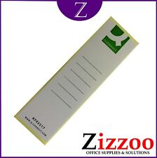 LEVER ARCH FILE SPINE LABELS PACK OF 5 RE-USE THOSE FILES - FOLDERS NOT INCLUDED