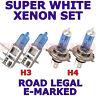 PER FIAT PANDA 1979-1992 SET H3 H4 LAMPADINE XENON SUPER BIANCO