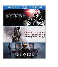 BLADE TRILOGY TRIPLE FEATURE BLU RAY SET 3 DISC 1-3 WESLEY SNIPES