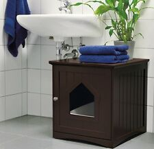Apartment Kitty Litter Box Hidden Enclosure Cat Privacy Designer Small Covered