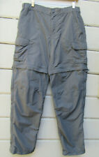 REI Wms 10 Slate Gray Convertible Adventure Sport Hiking Pants Shorts