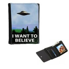 I Want To Believe, Mens or Ladies, Girls Purse Wallet 12cm x 9cm