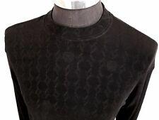 Vtg Farentino Ferre Italy Shirt Size Xl Black Stretch Vogue Vampire Roman God Vg