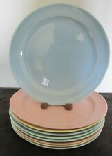 "9 PCS LURAY PASTELS USA 9 1/4"" SMALL DINNER OR LUNCHEON PLATES"