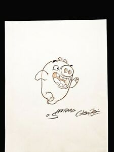 ANGRY BIRDS MOVIE Original Hand Drawn SANDRO CLEUZO SIGNED Piggy Concept Art